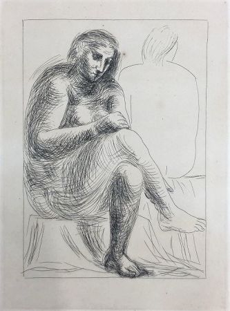 Aguafuerte Picasso - Au bain