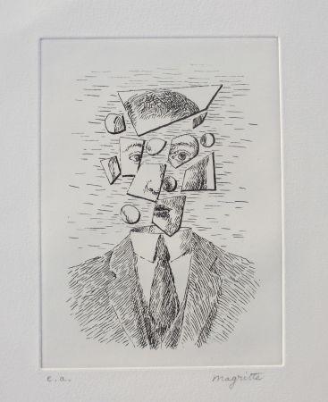 Aguafuerte Magritte - Aube à l'Antipode