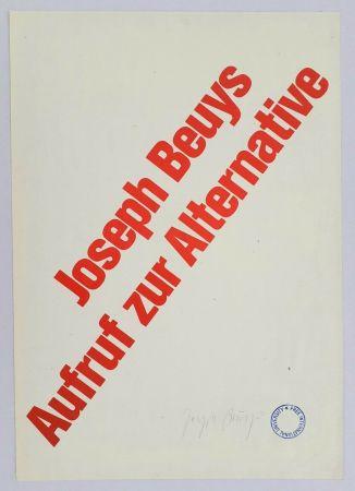 Litografía Beuys - Aufruf zur Alternative
