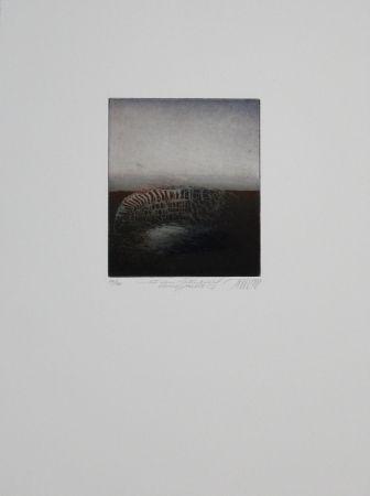 Aguafuerte Y Aguatinta Mordstein - Aus dem Totenbuch einer Stadt, 2 / From a City's Book of the Dead, 2
