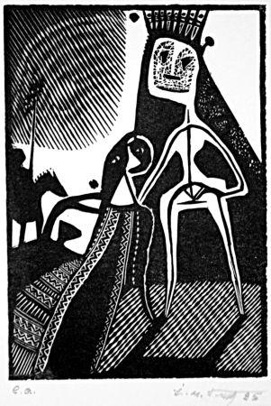 Linograbado Kouliev - Aus der Serie