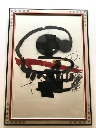 Litografía Tàpies - Ausstellung Tàpies - Milano