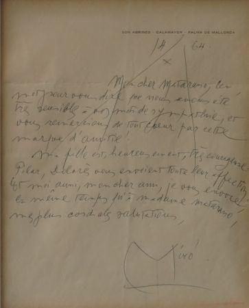 Sin Técnico Miró - Autographed letter