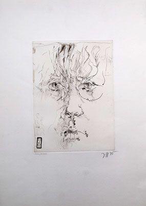 Aguafuerte Janssen - Autoportrait
