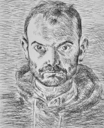 Aguafuerte Cossé - Autoportrait (1er état)