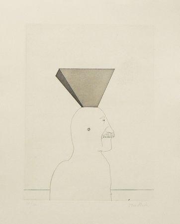 Aguafuerte Y Aguatinta Wunderlich - Autoportrait avec pyramide