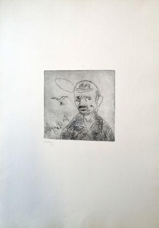 Punta Seca Ligabue - Autoritratto