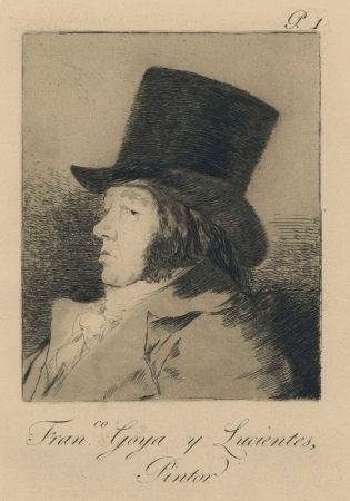 Grabado Goya - Autorretrato