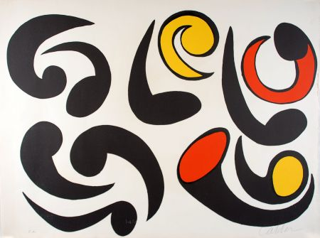 Litografía Calder - Autres têtards