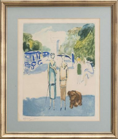 Aguatinta Van Dongen - Avenue du Bois, 1928
