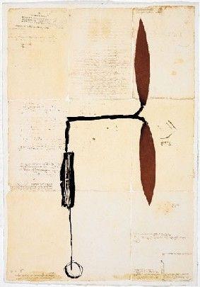 Múltiple Riera I Aragó - Avió hèlix vermella sobre manuscrits