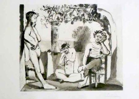 Aguafuerte Y Aguatinta Picasso - Bacchanale