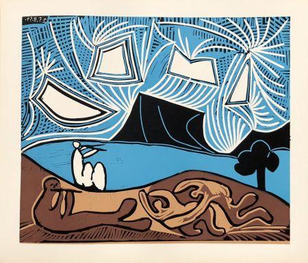 Linograbado Picasso (After) - Bacchanale 25-11-59