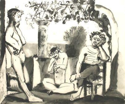 Grabado Picasso - Bacchanale (afterwork)