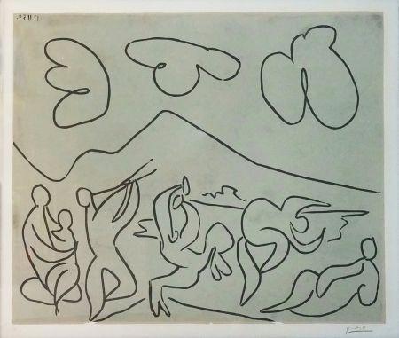 Linograbado Picasso - BACCHANALE (BLOCH 927)
