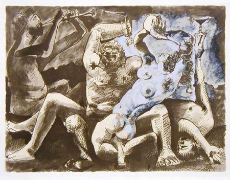 Litografía Picasso - Bacchanale Ii