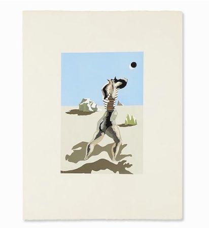 Pochoir Lurcat - Baigneuse, 1933