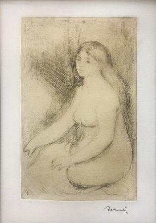Grabado Renoir - BAIGNEUSE ASSISE (D., S. 11)