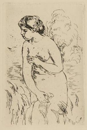 Grabado Renoir - Baigneuse debout à mi-jambes