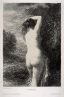 Litografía Fantin-Latour - Baigneuse debout (3º planche)