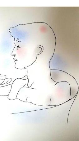 Litografía Cocteau - Bain