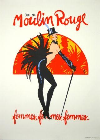 Serigrafía Gruau - Bal du Moulin Rouge