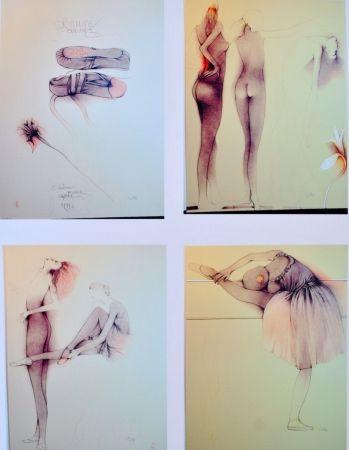 Litografía Bruni - Ballett mit Cynthia