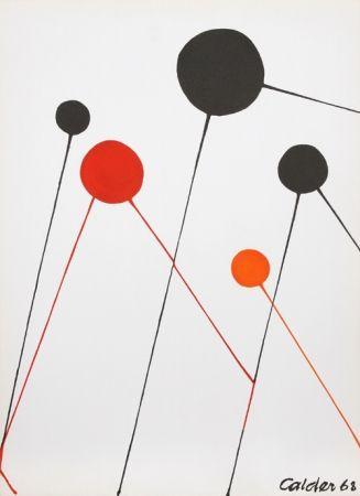Litografía Calder - Balloons