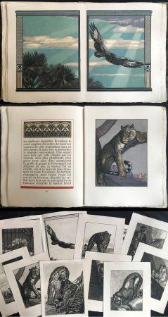 Libro Ilustrado Jouve - Balzac : UNE PASSION DANS LE DÉSERT. Illustrations de Paul Jouve (1949).