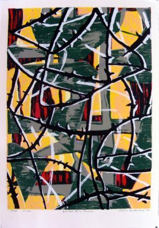 Serigrafía Anderberg - Barbed wire dawn