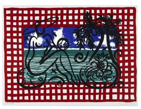 Litografía Szczesny - Bathers on Mustique