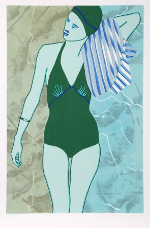 Serigrafía Kogelnik - Bathing in Green