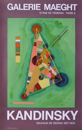Cartel Kandinsky - BAUHAUS DE DESSAU. Affiche originale en lithographie (1965).