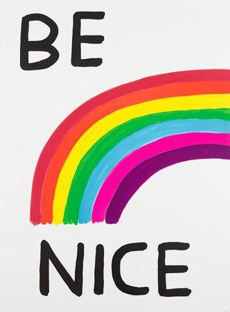 Serigrafía Shrigley - Be Nice