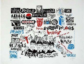 Serigrafía Villeglé - Beatles