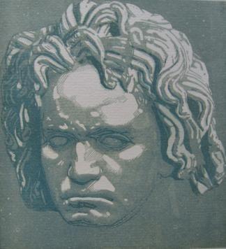 Grabado En Madera Beltrand - Beethoven