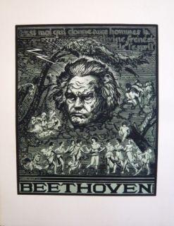 Grabado En Madera Belot  - Beethoven
