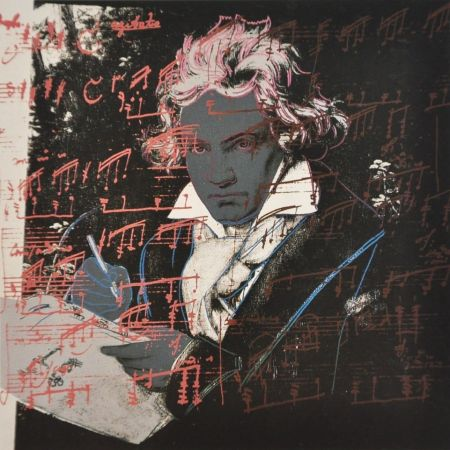 Serigrafía Warhol - Beethoven (FS II.391)
