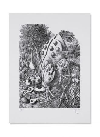 Litografía Alejandro - Beetle Forest