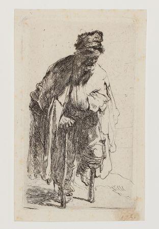 Grabado Rembrandt - Beggar with a wooden Leg
