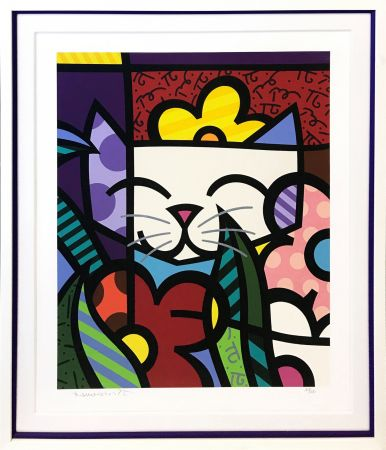 Serigrafía Britto - BEHIND THE FLOWERS