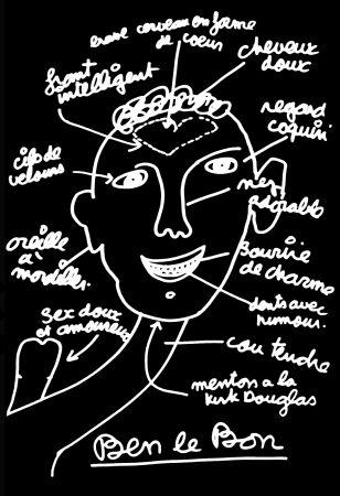 Serigrafía Vautier - '' Ben le Bon ''