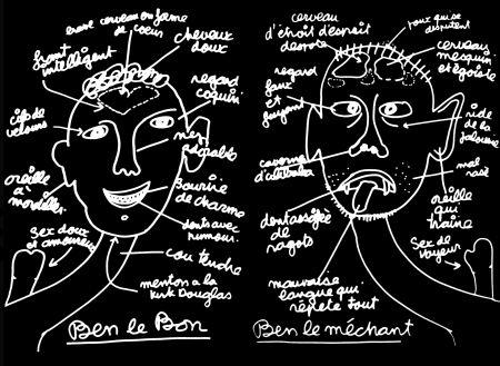 Serigrafía Vautier - '' Ben Le Bon, Ben le Méchant ''