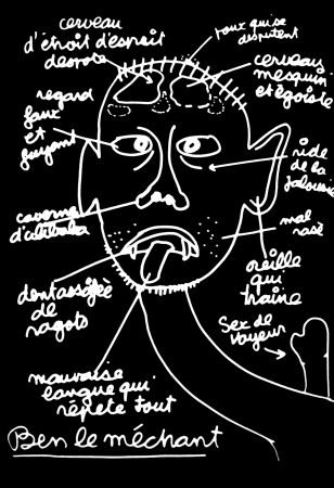 Serigrafía Vautier - '' Ben le Méchant ''