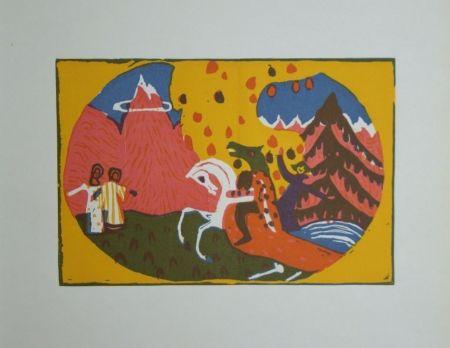 Grabado En Madera Kandinsky - Berge - Klänge, edition Pieper, 1913
