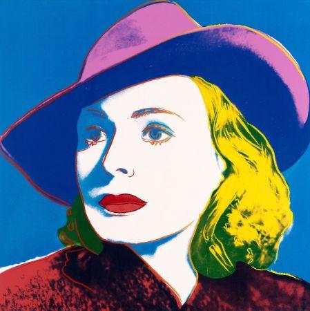 Serigrafía Warhol - Bergman with Hat
