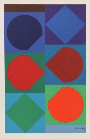 Litografía Vasarely - Beryll from Souvenirs de Portraits d'Artistes