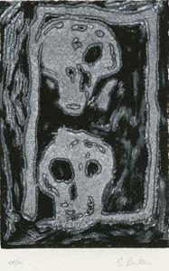 Linograbado Bertelli - Bestiario gotico