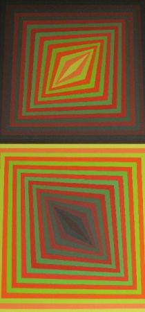 Serigrafía Vasarely - Bi-Rhomb