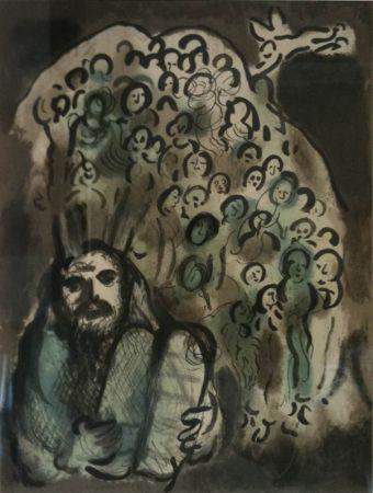 Litografía Chagall - Biblical Mesage